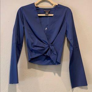NWT Banana Republic faux tie/button closure blouse